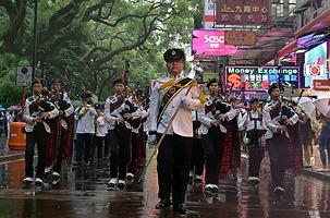 香港舉行巡遊活動紀念抗戰勝利70週年