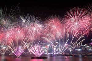 香港煙火音樂匯演迎新年