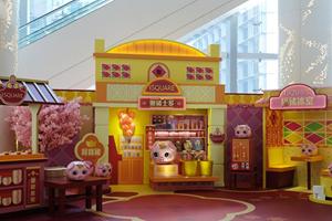 香港商場賀年裝飾新春氣氛濃