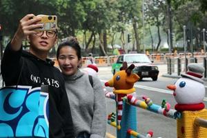 香港萌爆毛線公仔為都市注入色彩