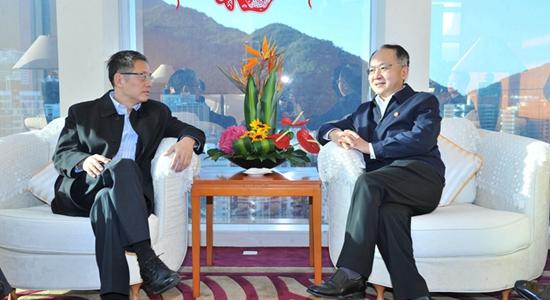 王志民會見中國投資有限公司總經理屠光紹一行